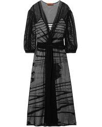 Missoni Belted Open-knit Midi Dress - Black