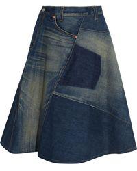 Junya Watanabe Patchwork Denim Skirt - Multicolour