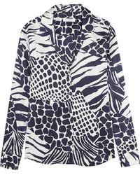 Equipment - Adalyn Animal-print Washed-silk Shirt - Lyst