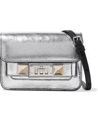 Proenza Schouler Ps11 Micro Convertible Metallic Cracked-leather Belt Bag