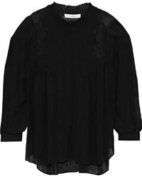 IRO - Embroidered Gauze Blouse - Lyst