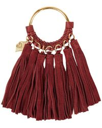 See By Chloé See By Chloé Tassel-trimmed Suede Key Chain - Red
