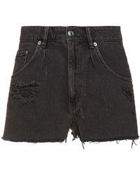 IRO Darzo jeansshorts in distressed-optik - Grau