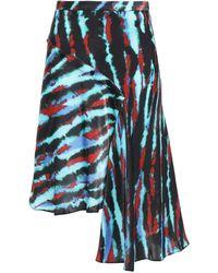 House of Holland Tie-dye Asymmetric Skirt - Black
