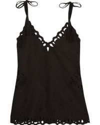 Theory - Wiola Broderie Anglaise Linen And Cotton-blend Camisole - Lyst