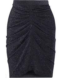 IRO Sargas Ruched Metallic Stretch-knit Mini Skirt - Black