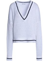 Amanda Wakeley - Scale Open-knit Cotton Sweater - Lyst