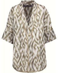 Raquel Allegra Frayed Metallic Slub Cotton-blend Jacquard Jacket - White