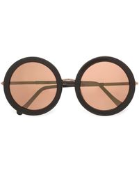 a5da789fcc Sunday Somewhere - Woman Isabella Round-frame Acetate And Rose Gold-tone Sunglasses  Rose