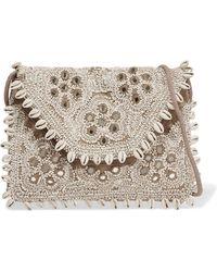 Antik Batik - Embellished Embroidered Cotton-canvas Clutch - Lyst