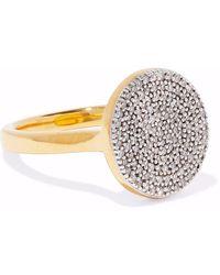 Monica Vinader Woman Ava 18-karat Gold-plated Sterling Silver Diamond Ring Gold - Metallic