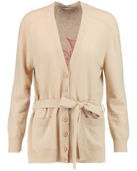 Emilio Pucci | - Intarsia Wool And Cashmere-blend Cardigan - Beige | Lyst