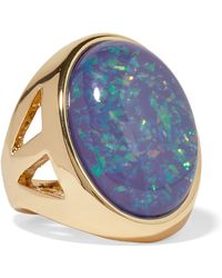 Kenneth Jay Lane - Gold-plated Opal Ring - Lyst
