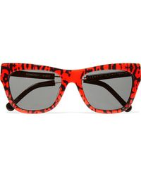 Preen By Thornton Bregazzi | - Pemberely D-frame Acetate And Metal Sunglasses - Red | Lyst