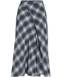 Vince - Shadow Wrap-effect Plaid Silk Midi Skirt - Lyst