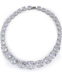 CZ by Kenneth Jay Lane - Silver-tone Crystal Necklace - Lyst