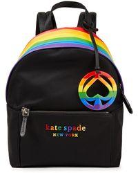 Kate Spade Striped Shell Backpack - Black
