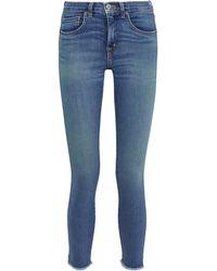 Nili Lotan - Frayed High-rise Skinny Jeans Mid Denim - Lyst