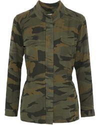 Splendid - Printed Cotton Jacket Army Green - Lyst