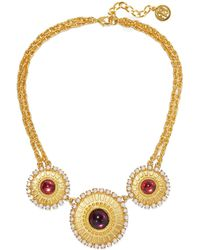 Ben-Amun 24-karat Gold-plated, Stone And Faux Pearl Necklace Gold - Metallic