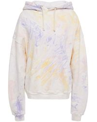 RE/DONE Oversized Tie-dyed French Cotton-terry Hoodie - Multicolour