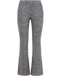 MM6 by Maison Martin Margiela Jacquard-knit Bootcut Trousers - Grey