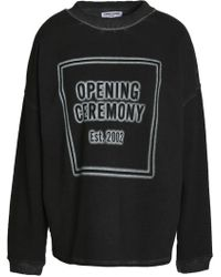 Opening Ceremony - Printed Cotton-terry Sweatshirt - Lyst