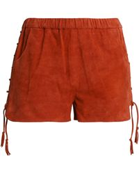 Maje - Lace-up Suede Shorts - Lyst