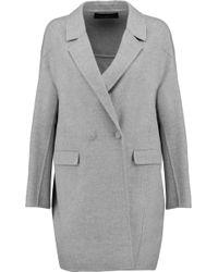 Pringle of Scotland - Wool And Cashmere-blend Felt Coat - Lyst