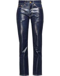 Eytys Cypress Wet Halbhohe, Beschichtete Jeans Mit Geradem Bein - Blau