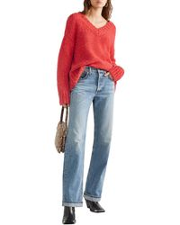 RE/DONE Knitted Jumper Tomato Red