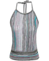 Missoni - Metallic Crochet-knit Halterneck Top Violet - Lyst