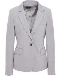 JOSEPH Imma Wool-blend Twill Blazer Stone - Grey