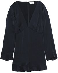 Zimmermann - Pleated Washed-silk Playsuit - Lyst
