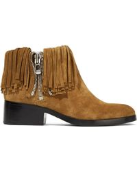 3.1 Phillip Lim - Alexa Fringed Suede Ankle Boots - Lyst