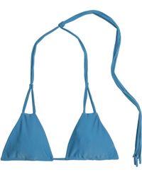 Mikoh Swimwear - Knotted Triangle Bikini Top Light Blue - Lyst
