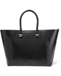 Victoria Beckham - Liberty Croc-effect Leather Tote - Lyst