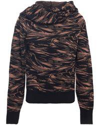 Missoni Wool, Cashmere And Silk-blend Hooded Jumper - Black