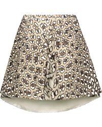 Roberto Cavalli - Pleated Leopard-print Cotton-twill Mini Skirt - Lyst