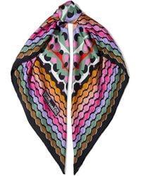 Diane von Furstenberg Jella Printed Silk-twill Scarf - Multicolor