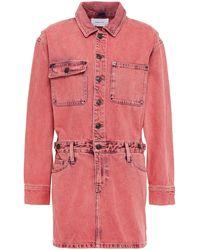 Current/Elliott Faded Denim Mini Dress - Pink