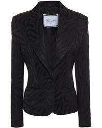 Redemption Cotton-blend Jacquard Blazer - Black