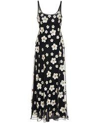 ALEXACHUNG Sequin-embellished Tulle Maxi Dress - Black