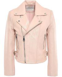Ba&sh Leather Biker Jacket Blush - Multicolour