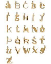 Monica Vinader A-z Alphabet Letter Anhänger Aus -vermeil - Mettallic