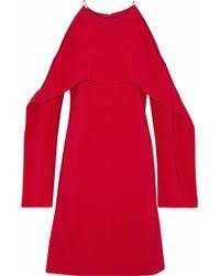 Rosetta Getty - Layered Cutout Stretch-cady Dress - Lyst