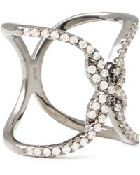 Noir Jewelry Tone Crystal Ring - Metallic