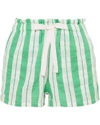 lemlem Doro Shorts Aus Gaze Aus Einer Baumwollmischung Mit Streifen Größe Xs - Green