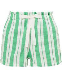 lemlem Doro Striped Cotton-blend Gauze Shorts - Green