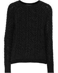 Autumn Cashmere Cable-knit Sweater Black